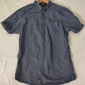 Ben Sherman blue short sleeve button up shirt. L.